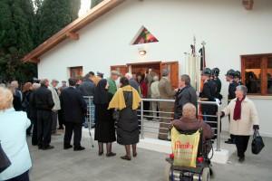 La nuova chiesa prefabbricata del cimitero di Mestre